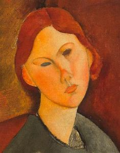 Amedeo Modigliani (Italian, 1884 - 1920) Anne Bjarne (Portrait de Anne Bjarne)