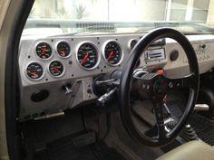 Custom Dashboard, Digital Dashboard, Custom Car Interior, Truck Interior, C10 Chevy Truck, Lifted Chevy Trucks, Car Console, Run Flat Tire, Chevrolet Blazer