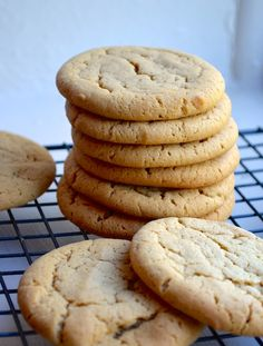 SOFT PEANUT BUTTER COOKIES from Rachel Schultz. Subbed coconut sugar and WW flour