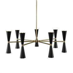 KALCO Lighting 310471BVB Milo 14 Light Chandelier