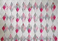 Quilting in the border — Stitched in Color Machine Quilting Patterns, Longarm Quilting, Quilting Designs, Quilt Patterns, Sewing Patterns, Irish Chain Quilt, Quilt Border, Sewing Blogs, Quilt Stitching