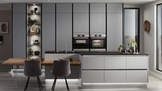 Discover the new handleless cabinets from Howdens. Create an on-trend linear design. Pre-cut to save time on installation. Available from local stock. Kitchen Cupboard Doors, Kitchen Units, Kitchen Handles, Kitchen Cabinets, Kitchen Ideas, Kitchen Modular, Kitchen Redo, Kitchen Island, Larder Storage