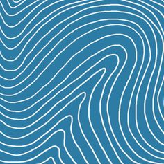 Waves by Clau Pinha for Painappuru #blue #pattern #waves #lines #curves