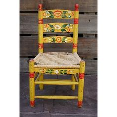 Vintage Mexican Hand Painted Chair