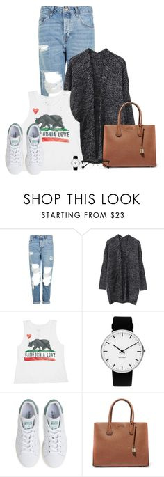 """""""California Love And A Cardigan"""" by queenmilliefaith ❤ liked on Polyvore featuring Topshop, Billabong, Rosendahl, adidas, MICHAEL Michael Kors and Cutler and Gross"""