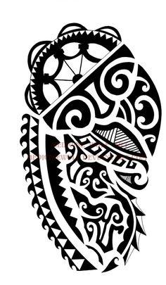 Polynesian shoulder tattoo design with marquesan crosses - Tatouage tribal epaule ...