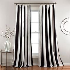 Half Moon Wilbur Window Curtain Set Black - C32978P15-000
