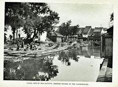 Kanal di kota tua Batavia 1930.