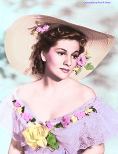 """Joan Fontaine for """"Rebecca"""" (colorized photo)"""
