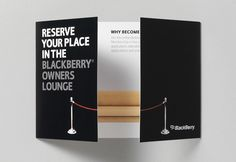 Case Study 1: Blackberry Print Communications - Welcome Pack Flyer