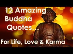 12 Perfect Budda Quotes for you to Reflect on in a Busy World - Quotes on Life -Love -Change + Karma - YouTube