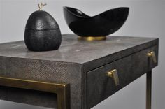 ginger brown design,shagreen objects, galuchat,exclusive objects