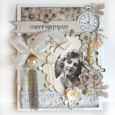 shabby chic cards | today i have this shabby chic birthday card to show you