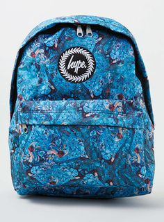 Hype Blue Water Colour Backpack Products Colour And Water