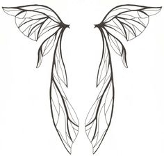 Fairy wings, like how the artist made the lines of different shade, very real looking.