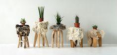 the soft world - wool stools