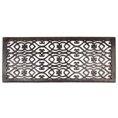 """Signature Hardware 258743 Bronze Oversized Victorian Bronze Floor Air Return - 10""""x26"""" (11-1/2""""x27-3/4"""" Overall) Mediterranean Homes Exterior, Mediterranean Home Decor, Baseboard Heater Covers, Wood Floor Finishes, Air Return, Presidents Day Sale, Victorian Architecture, Solid Brass, Home Improvement"""