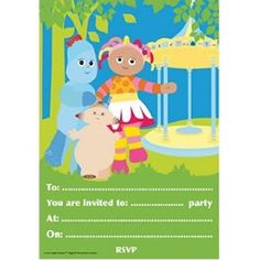 In the Night Garden Party Invitations - 20 in the night garden party invites: Amazon.co.uk: Toys & Games