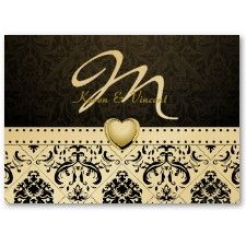 Weddings -N- Things Blog: Premium Metallic Gold and Black Damask Wedding Ideas