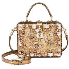 Dolce & Gabbana Rosaria Crystal-Embellished Box Bag