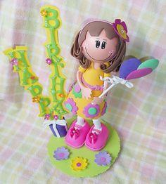 Fofucha Flower Power Girl  Happy Birthday  by FofuchasDolls, $28.00