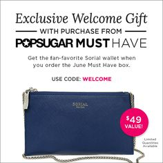 New POPSUGAR Must Have GWP Coupon!