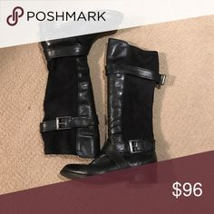 Cole Han flat buckle boots Beautiful boots in great condition! Cole Haan Shoes