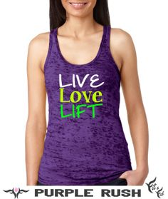 Live Love Lift Super cute strong girl crossfit workout racer back tank