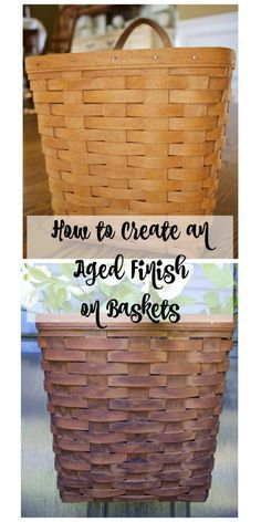 Hey y'all…By now I think you know how much I loved aged finishes and weathered wood. In fact, this post is dedicated to how you can create an aged finish on baskets. I honestly hesitated to write about it. I second-guessed myself and that wasn't a good feeling. I've hemmed and hawed and here's the ... Read More about How to Create an Aged Finish on Baskets