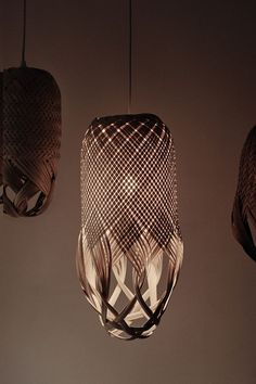Louise Tucker in Specialist, Interior Design Ideas. Basket Lighting, Bar Lighting, Lighting Design, Tucker House, Big Basket, Wood Pendant Light, Fibre, Plant Decor, Hand Weaving