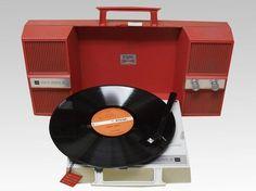 0043_昭和のアンティークラジオ兼LPレコード_画像1