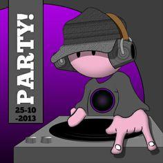 DJ party zelf invullen - Uitnodigingen - Kaartje2go