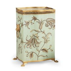 Chelsea House Brighton Wastebaskets Features: Pierced gallery Hand painted tole Measurements: Overall Dimensions: w x d x h Carton Dimensions: w x d x h Packed Volume: cu. Home Bedroom Design, Home Office Accessories, Bathroom Accessories, 257, Home Accents, Decor Crafts, Decorative Accessories, Brighton, French Country