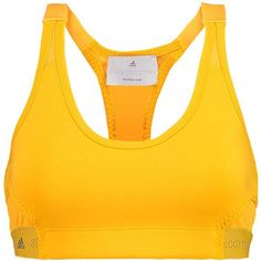 Adidas by Stella McCartney Mesh-paneled stretch-scuba sports bra (757.890 IDR) ❤ liked on Polyvore