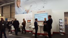 Discussions with interested attendees at our stand