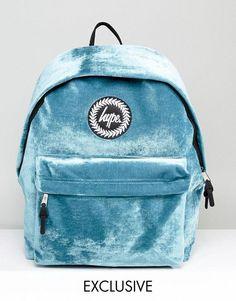 fed5c4d17b2627 Hype Exclusive Teal Velvet Backpack Sac De Chat