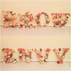 🌸Flower letter shop signs 🌸   Message me for a QUOTE!