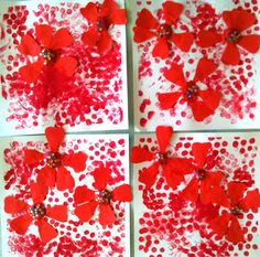 Collage composition with red polka dots and flowers from les petites têtes de l'art Art Floral, Flower Crafts, Flower Art, Scrapbook Images, Feminist Art, Japan Art, Summer Art, Art Plastique, Kids Cards