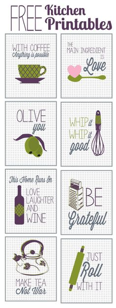 Fabulous & Free Kitchen Printables - The Happy Housie