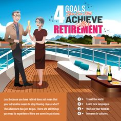 4 Goals You Can Still Achieve After Retirement Retirement, Basketball Court, Hobbies, Language, Goals, Adventure, Group, Learning, Business