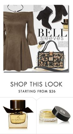 """""""Street Style Trend: Bell Sleeves"""" by beebeely-look ❤ liked on Polyvore featuring Burberry, Givenchy, StreetStyle, sammydress, StreetChic, bellsleeves and Dressunder50"""