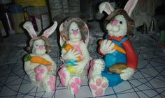 Mr Peter Cottontail family.  I made them out of fondant.