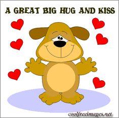 A great big hug and kiss  --  Eine große große Umarmung und Kuss