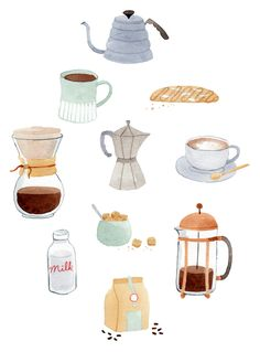 Coffee Art Print by Julianna Swaney | Society6
