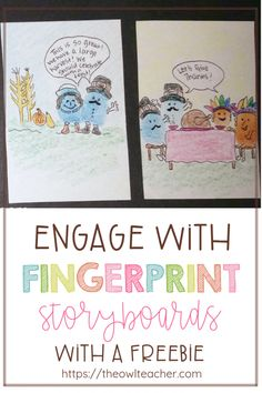 Engage your students with fingerprint storyboards. This is a strategy that can help students remember events in any content area while having fun! Upper Elementary Resources, Free Teaching Resources, Teaching Strategies, Teaching Tips, Teaching Reading, Teaching Math, Guided Reading, Social Studies Curriculum, Social Studies Activities