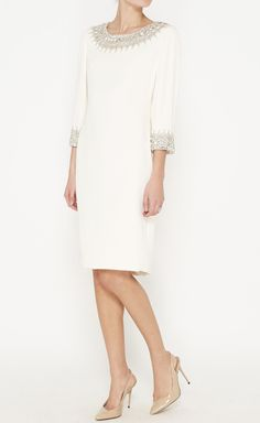 Marchesa Ivory And Crystal Dress | VAUNTE
