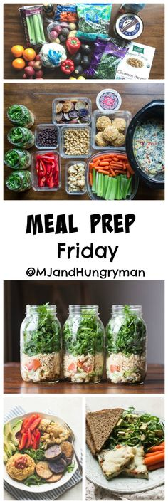 Meal Prep Friday - slow cooker omelette, chickpea burger, kale & arugula mason jar salad recipe // The Adventures of MJ and Hungryman