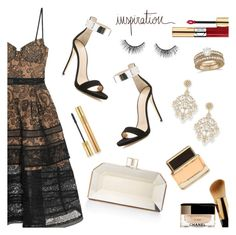 """Wishing you a wonderful day :*"" by dressedbyrose ❤ liked on Polyvore featuring self-portrait, Giuseppe Zanotti, Judith Leiber, Jose & Maria Barrera, Allurez, Yves Saint Laurent, Givenchy, tarte, inspiration and polyvoreeditorial"