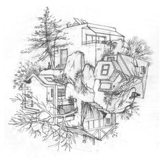 Surreal Architectural Illustrations By Cinta Vidal Agulló | Misc |  Pinterest | Illustrations, Collage Illustration And Art Illustrations