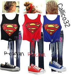 """""""The 3 Super Hero's!!!"""" by callico32 on Polyvore"""
